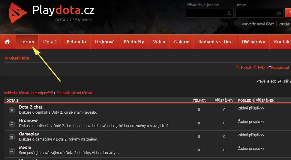 Playdota.cz má nové fórum