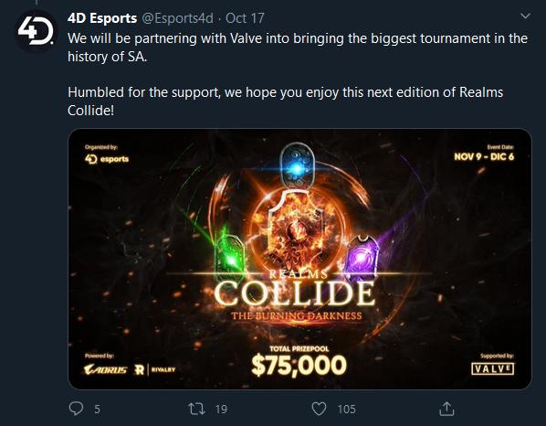 Další turnaj s podporou Valve je na obzoru