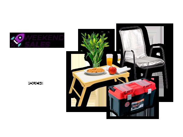 Weekend Sales: Outdoor e Jardim