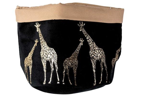 zak giraffe zwart d18xh17cm textiel