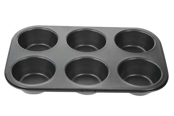 bakvorm 6 muffins 26,5x18,5cmvormpjes d6.5xh3cm
