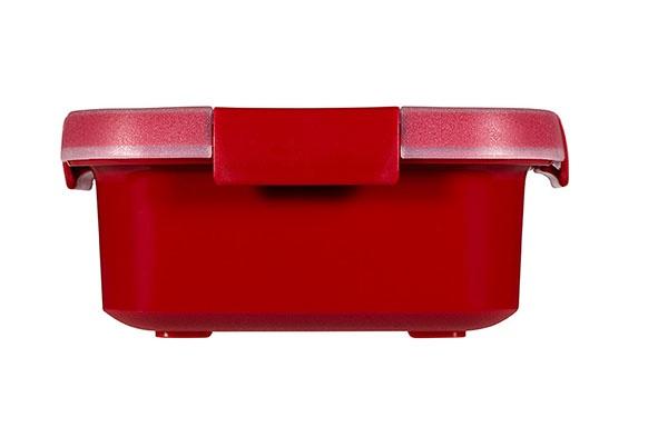 smart microwave multi-use 0.9l rood16x16x7cm
