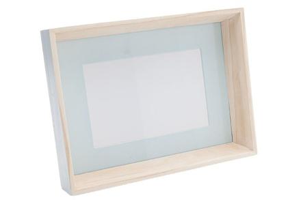 border fotokader pastel turquoise hout16.5x22x4cm met steun