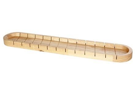 stokbroodplank met snijverdeling 580x110x30cm rubberwood