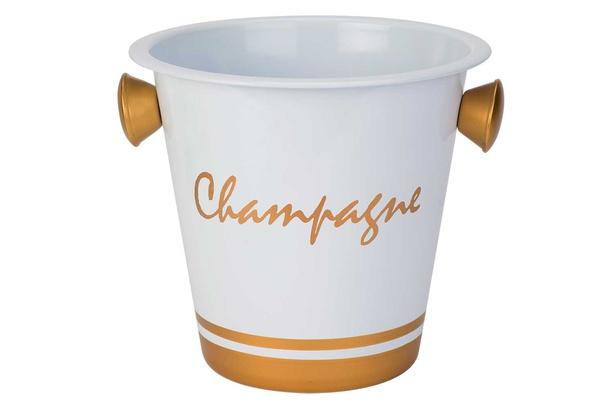 champganeemmer wit-tekst champagne goudhandvat goud d20xh19cm - gegalvaniseerd