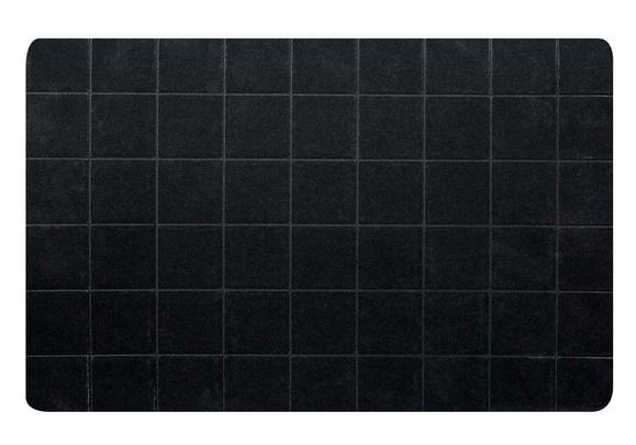 placemat neopreen zwart dz 43.5x28.5cmrechthoek