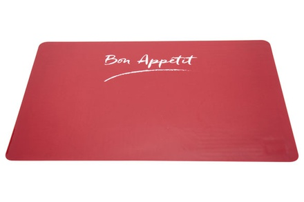 placemat rood transparant 43.5x28.5cm