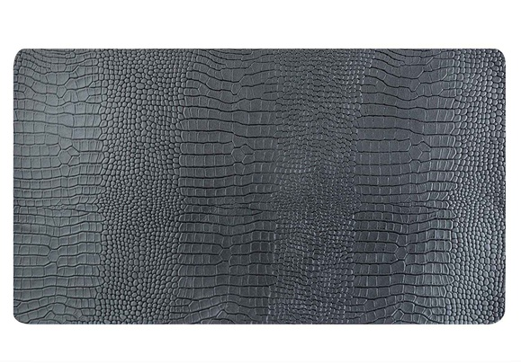 placemat leder recycled zwart 43x30cmrechthoek-crocco look