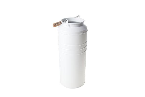 melkkan wit rond metaal 9x11,5xh28