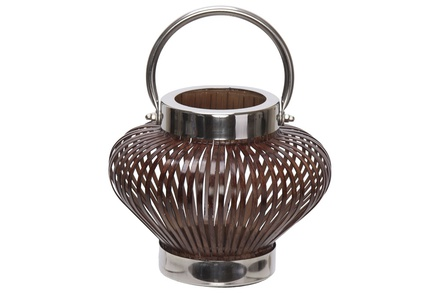 lantaarn india bruin 22x22xh17cm metaal