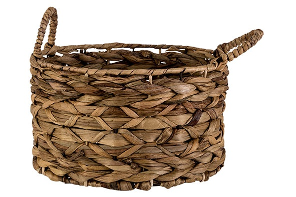 mand natuur 28x28xh16cm rond seagrass