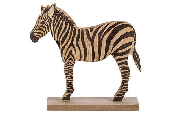 zebra natuur 14x5xh16cm hout
