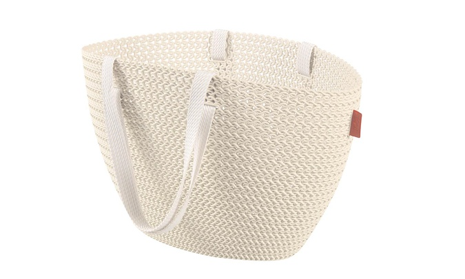 knit emily shopping basket oasis white50x24xh30