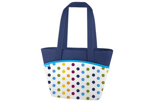 dots and stripes koeltas lunch tote 7l9 can - houdt 3h koud
