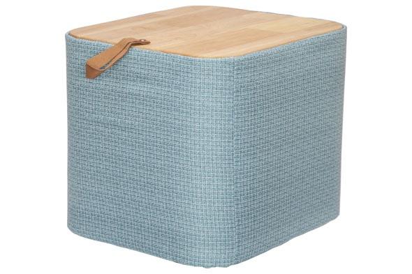 opbergbox blauw 40x34xh38cm rechthoek textiel