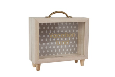 spaarpot vacation fund nat 21x7.4x21.3cmcm hout