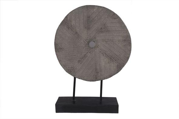 maalsteen op voet grijs 45x15x63cm