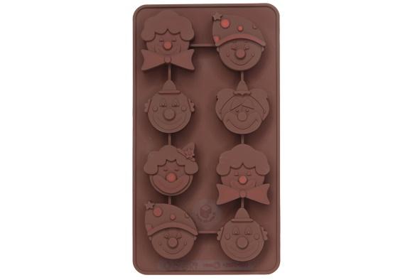 chocoflex chocoladevorm clown 8st silicone