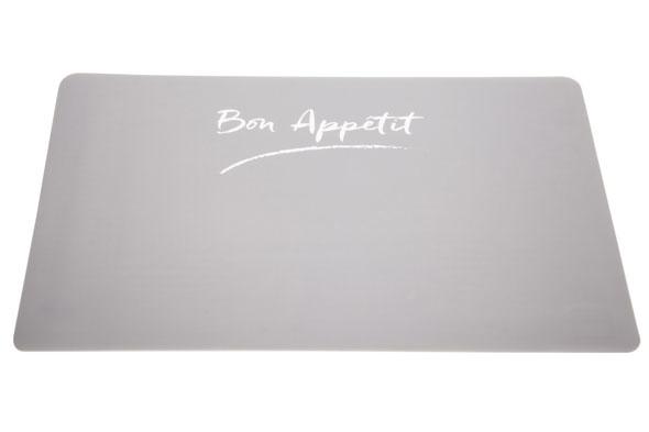 placemat grijs transparant 43.5x28.5cm