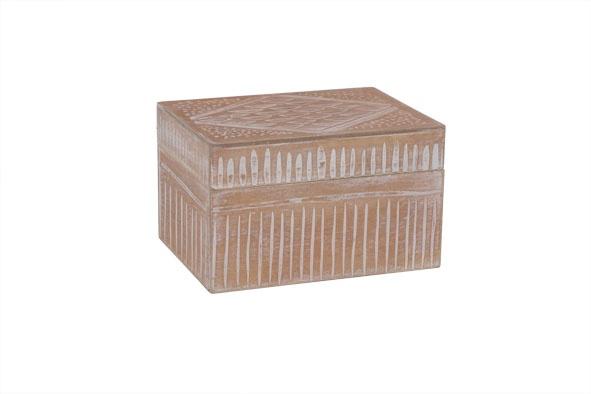 opbergdoos maroc bruin hout 19x14x11,5cm