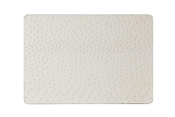 placemat leder look ivory43x30cm