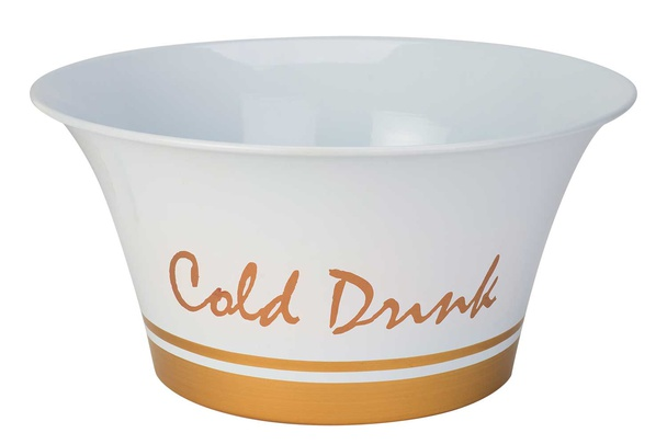 cold drinks partybowl wit-band goud d41xh20cm gegalvaniseerd