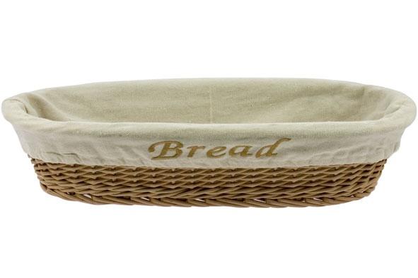 broodmandje bread m.doek 40x18xh10cm ovaal