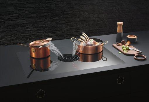 Bora dampkap geïntegreerd in de kookplaat