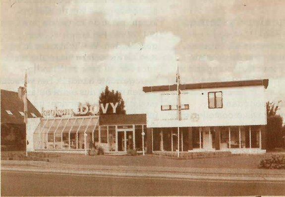 La première salle d'exposition de Cuisines Dovy à Roulers
