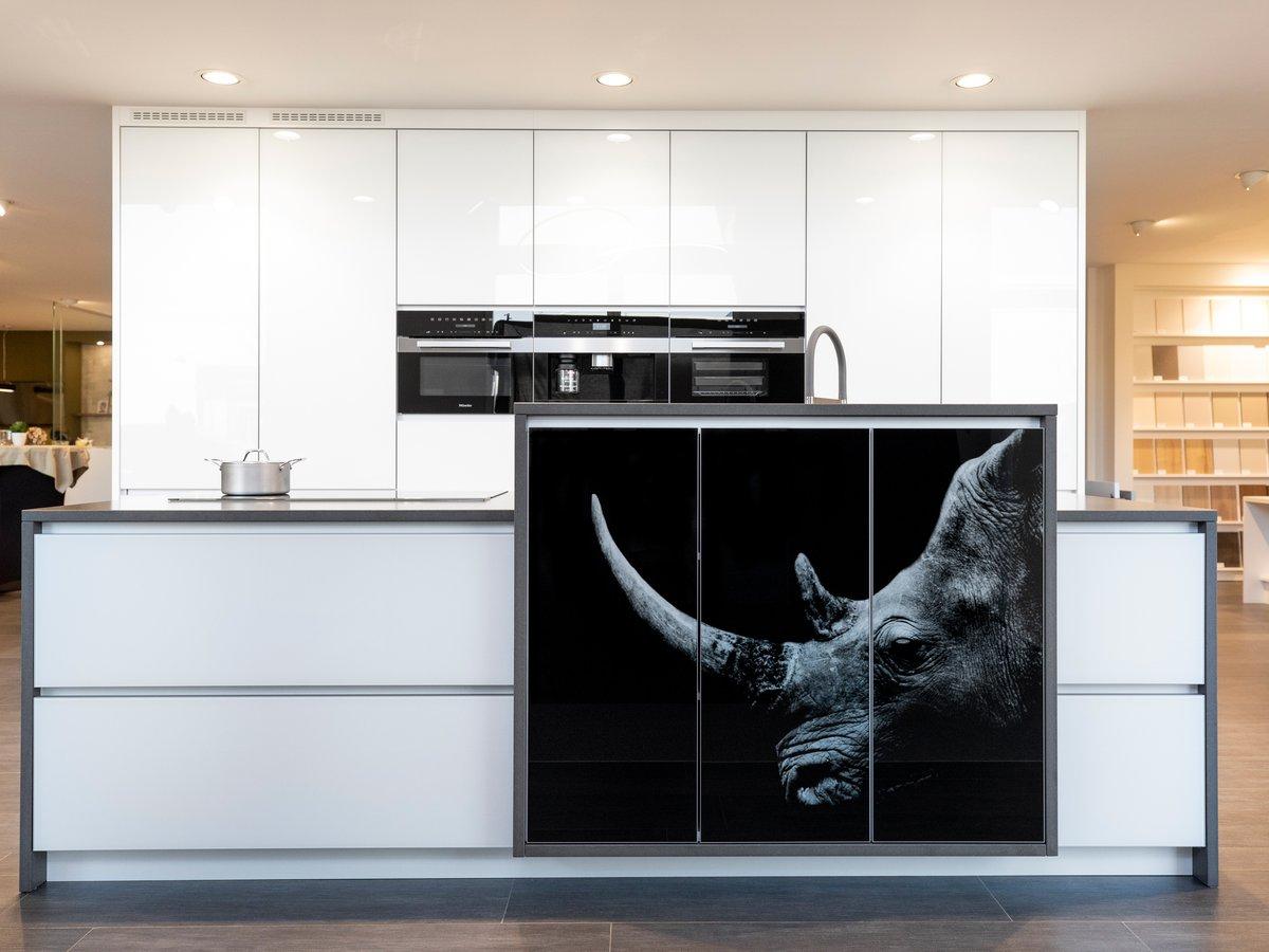 Keuken met kastdeuren met fotoprint
