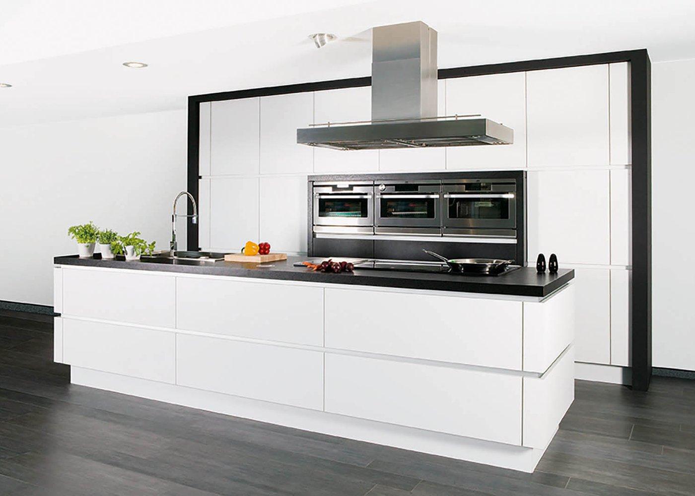 Cuisine moderne en stratifié blanc - Modèle Design