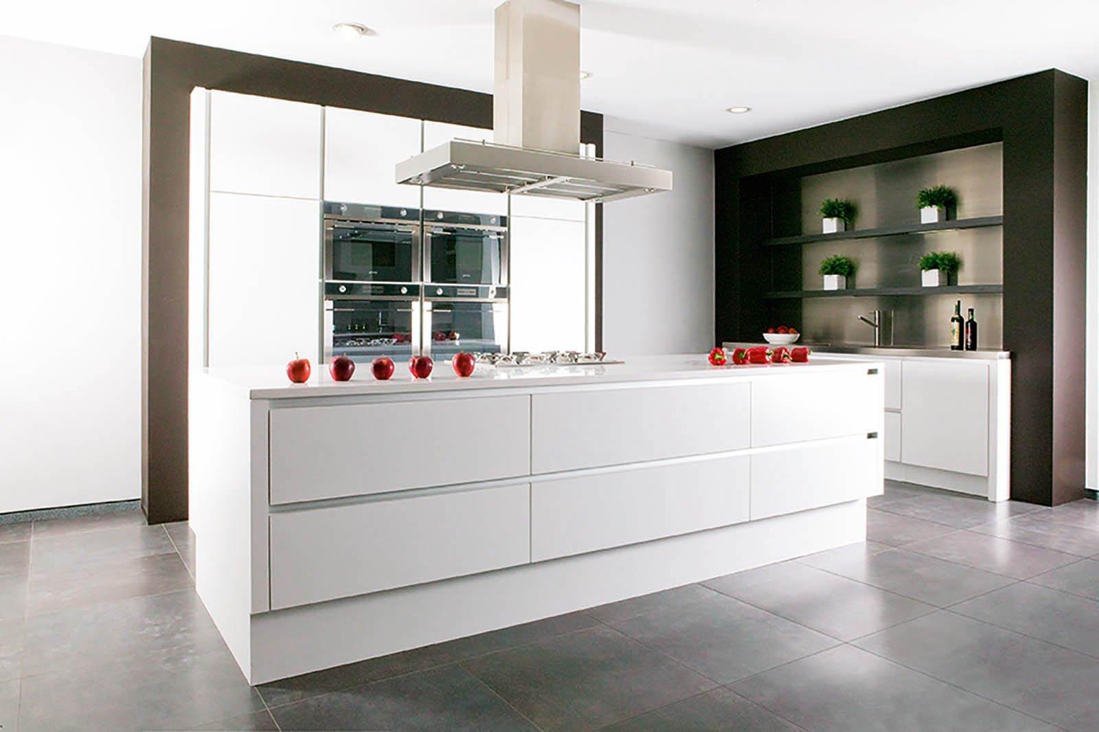Cuisine design blanche - Modèle Design