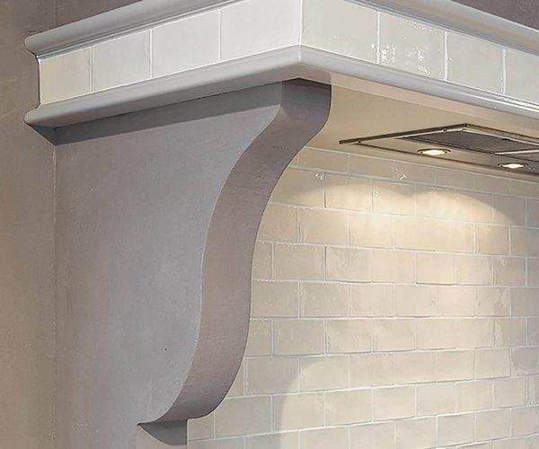 Landelijke keuken mat lak - Model Les Flandres - Ingewerkte dampkap