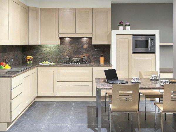 Klassieke keuken in natuureik - Model New York
