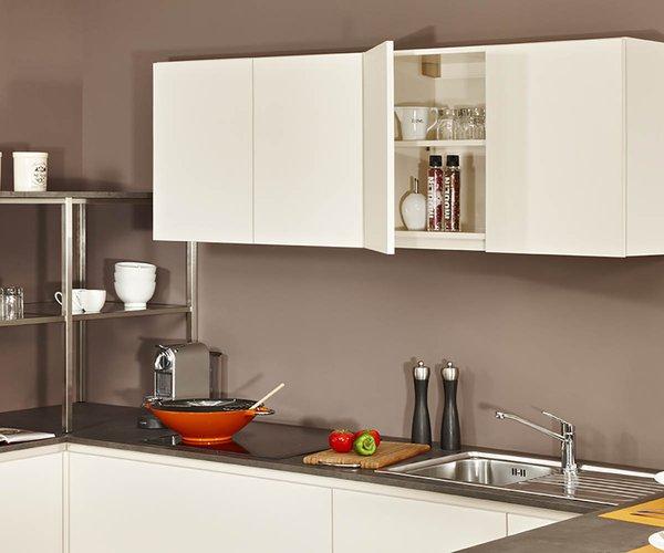 Cuisine moderne crema - Modèle Design - Système d'angle ouvert