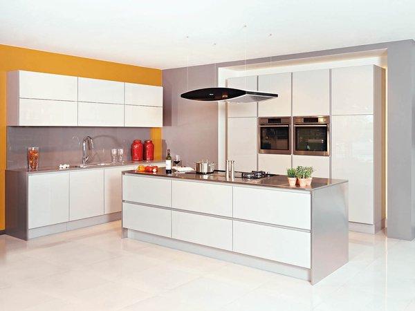 Cuisine moderne blanche en verre - Modèle Sirius