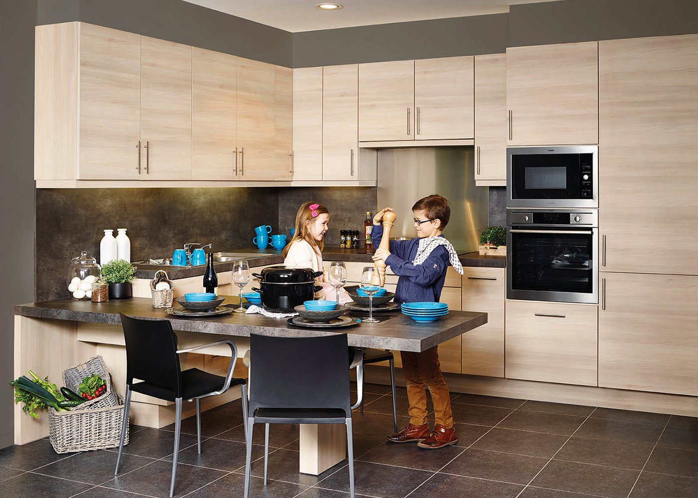 Moderne keuken volledig in laminaat - Model Toronto