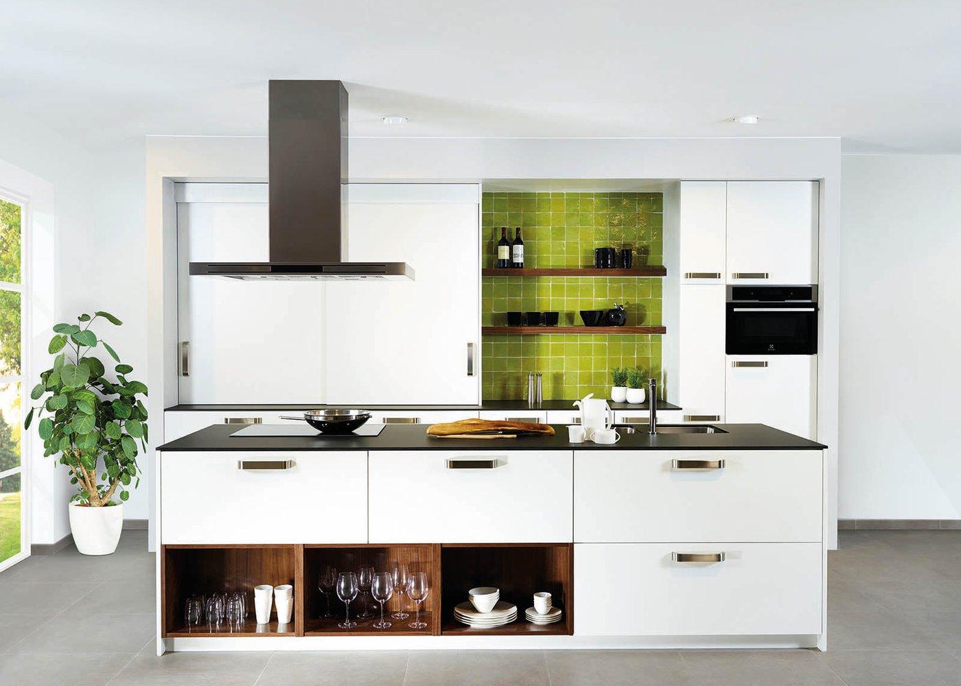 Cuisine moderne blanche en stratifié plein front - Modèle Toronto