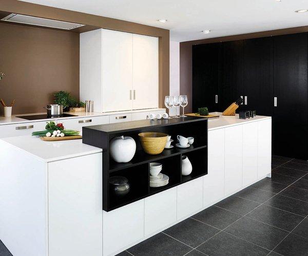 Moderne keuken in fineer eik / frontlaminaat - Model Toronto