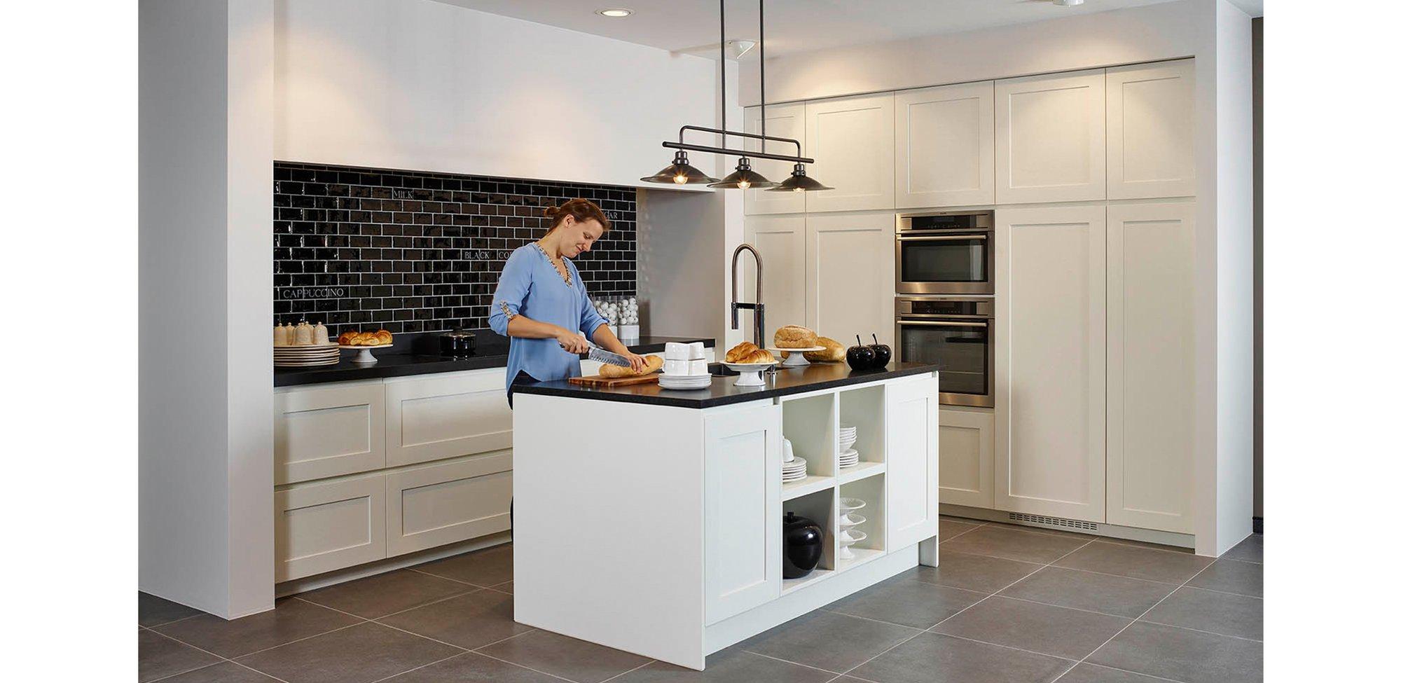 Greeploze witte keuken - Model New York