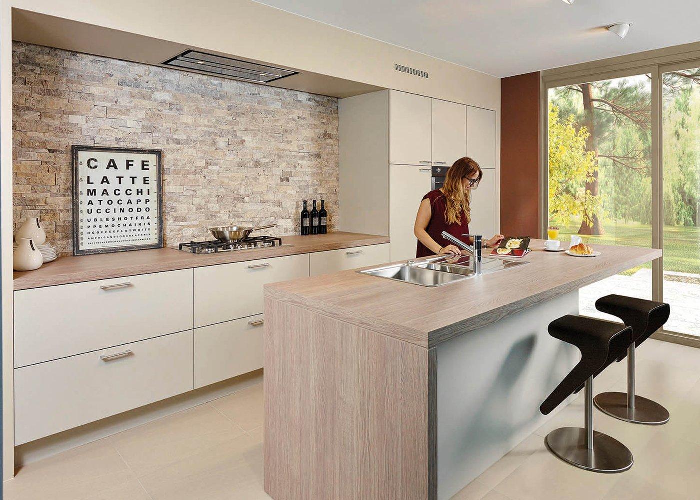 Moderne keuken in laminaat - Model Toronto