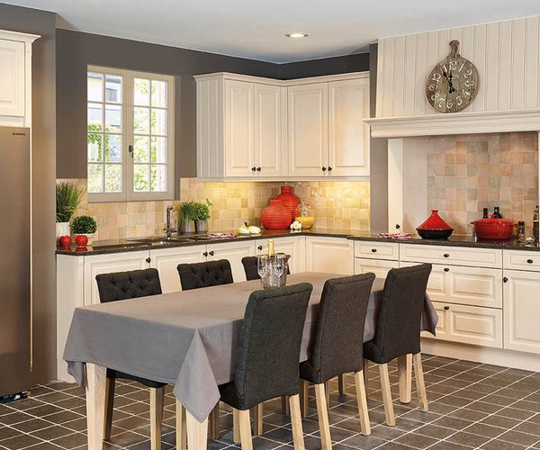Landelijke keuken met kroonlijst - Model Cottage