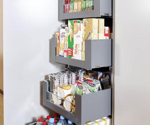 Cuisine moderne avec vaste espace de rangement - Modèle Design - Armoire à tiroirs coulissants