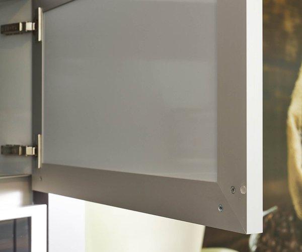 Cuisine moderne brillante - Modèle Sirius - Cadre en aluminium
