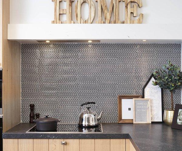 Klassieke landelijke keuken in L-vorm - Model Provence - Werkblad in keramiek