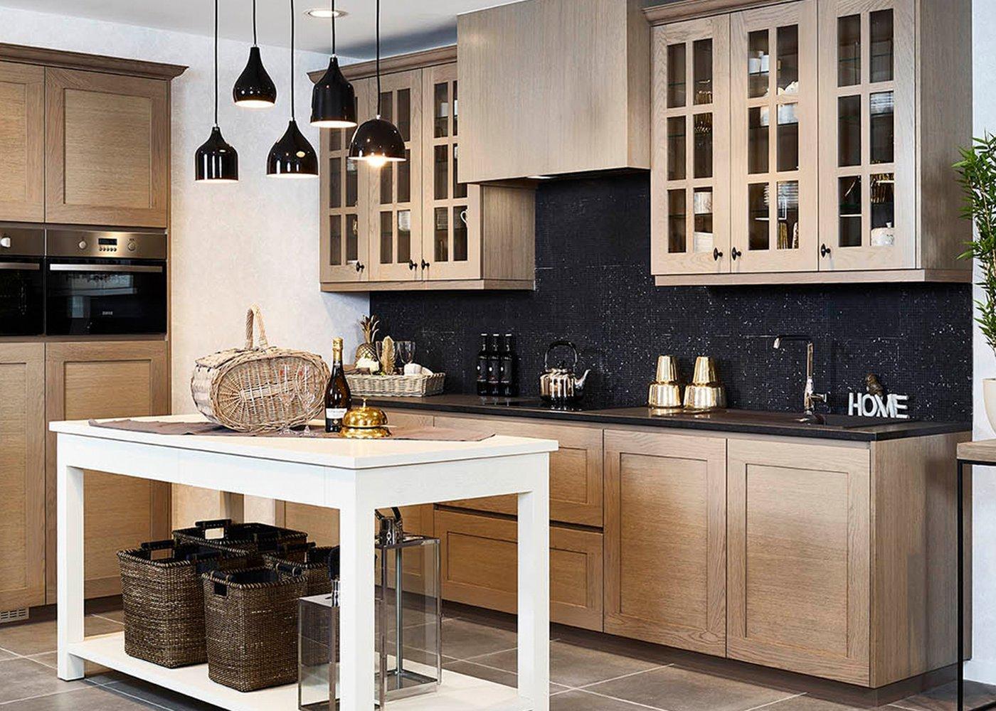 Rustieke keuken in eik - Model New York