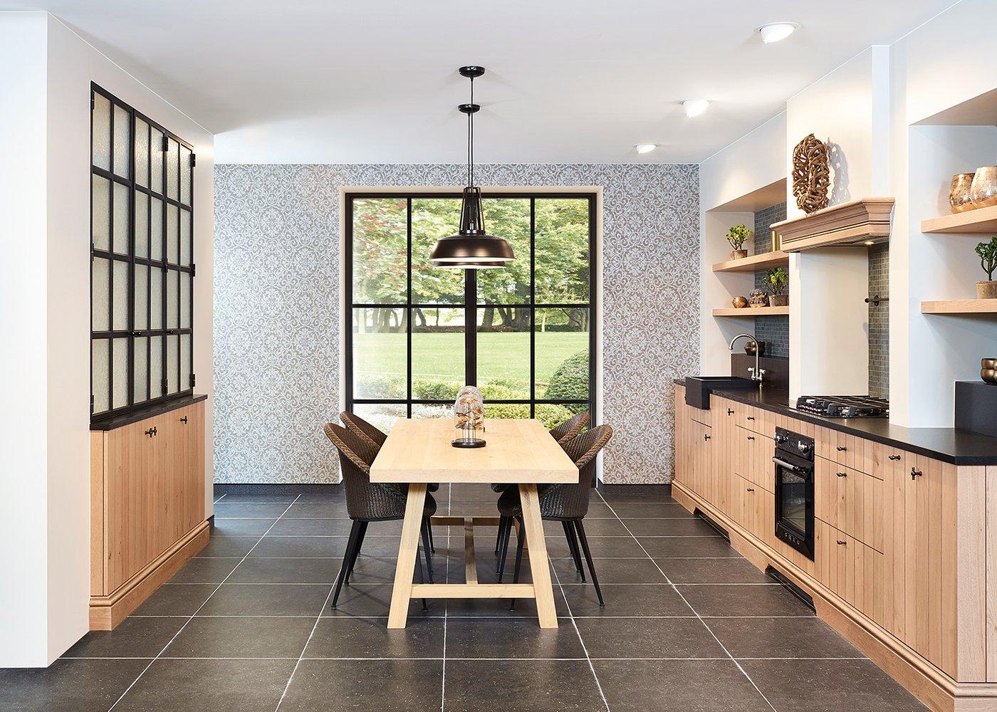 Rustieke keuken in fineer eik - Model Provence