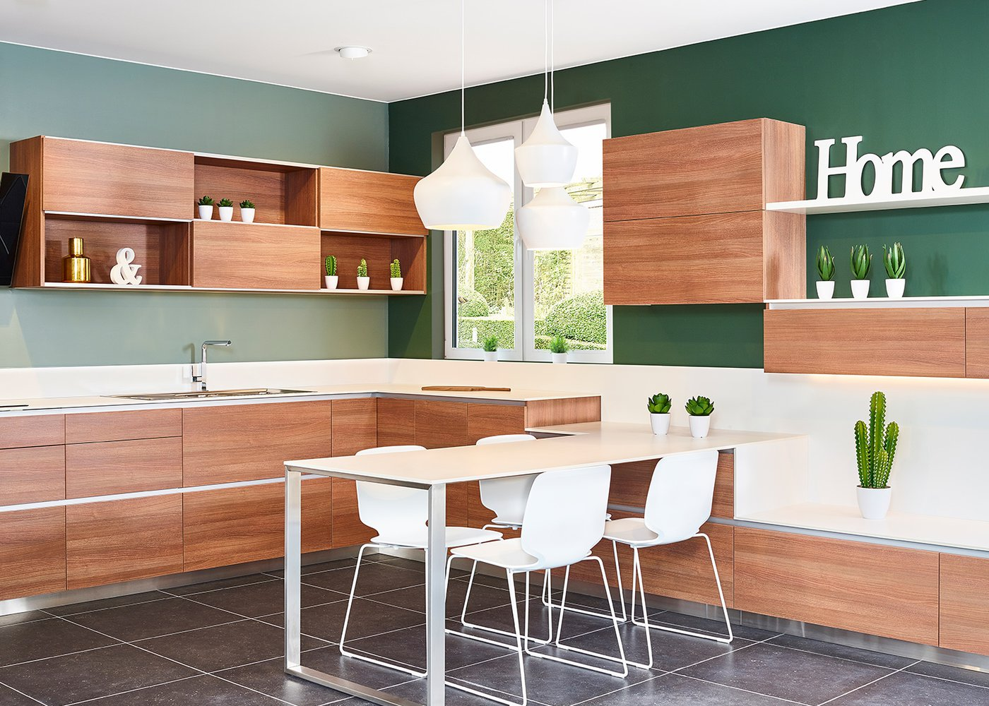 Roodbruine keuken in laminaat - Model Design