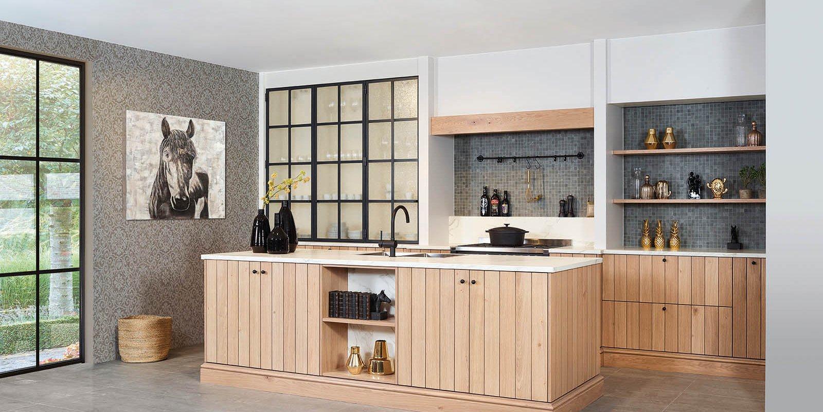 Keuken in fineer eik - Model Provence 10