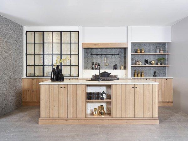 Cuisine en chêne planché - Modèle Provence 10